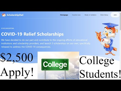 How to get $2,500 Scholarship Fund for College Students! Pandemic Assistance PUA EBT EDD Stimulus