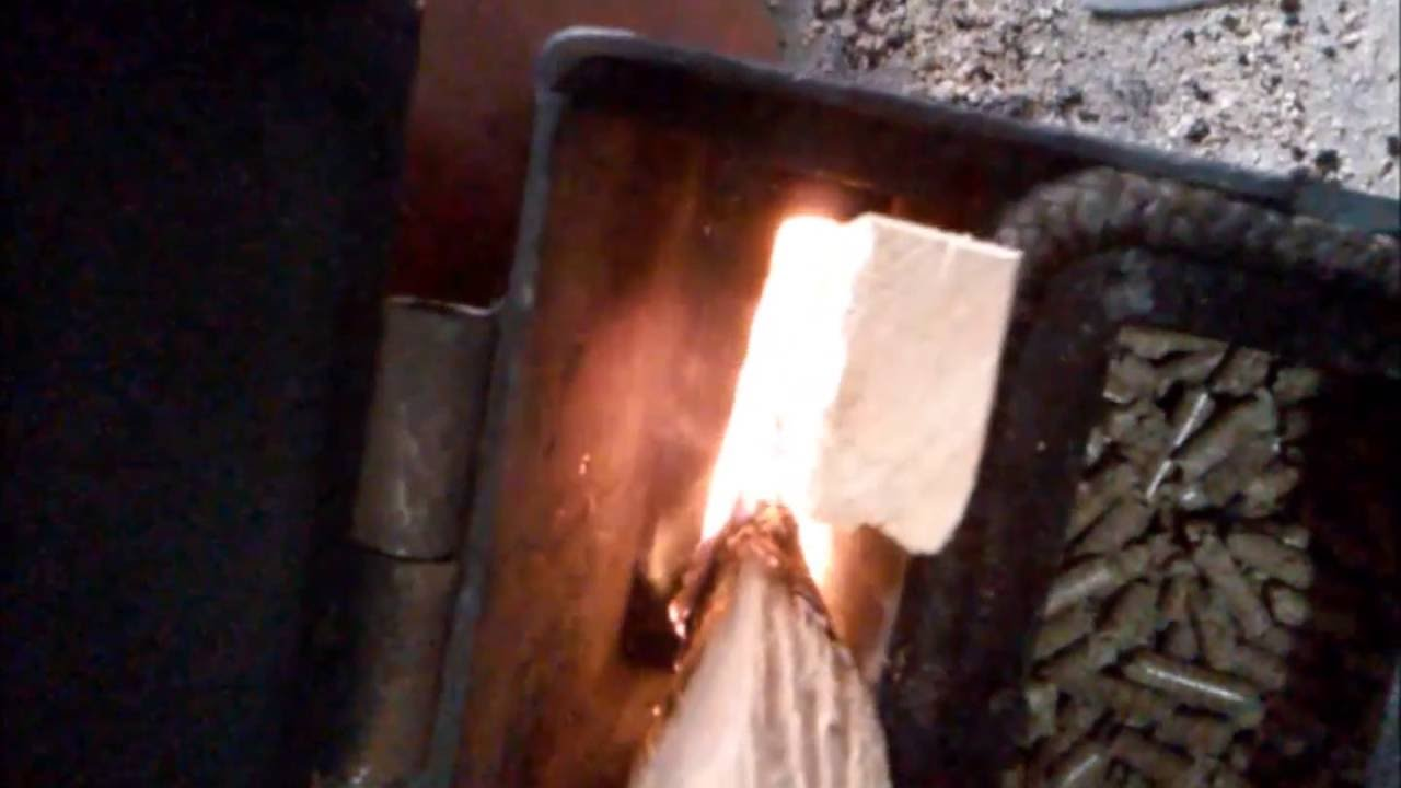 Testing! my Rocket stove barrel ''wood pellet burner ...