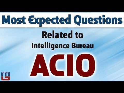 Most Expected Questions | Intelligence Bureau ACIO | General Studies | All Competitive Exams