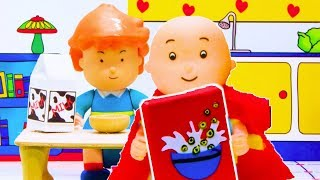👨‍🍳 Caillou makes Breakfast 👨‍🍳 | Funny Animated Kids show | Caillou Stop Motion