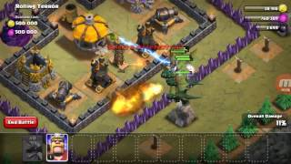 Clash of Clans Ataki #2 Rolling Terror i Crystal Crust