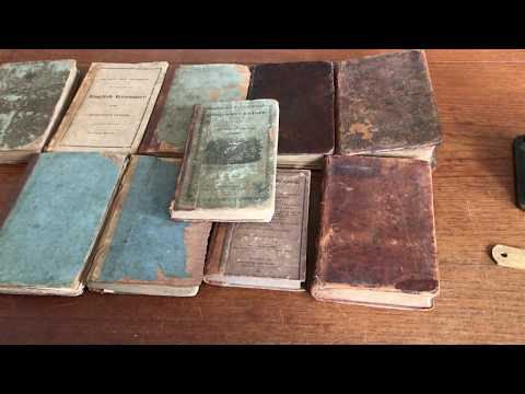 American Pre-1838 School Book Collection 10 Old Early Education