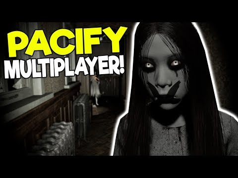 ESCAPING A GHOST GIRL IN A HAUNTED MANSION! - Pacify Multiplayer Gameplay - Survival Horror Game