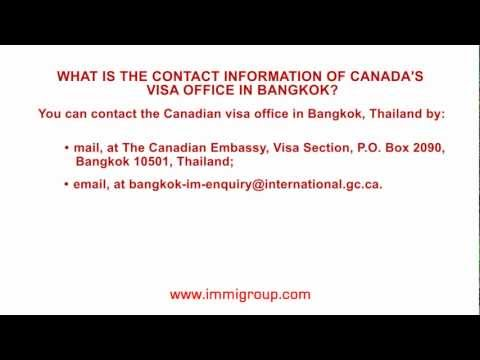 What is the contact information of Canada's visa office in
