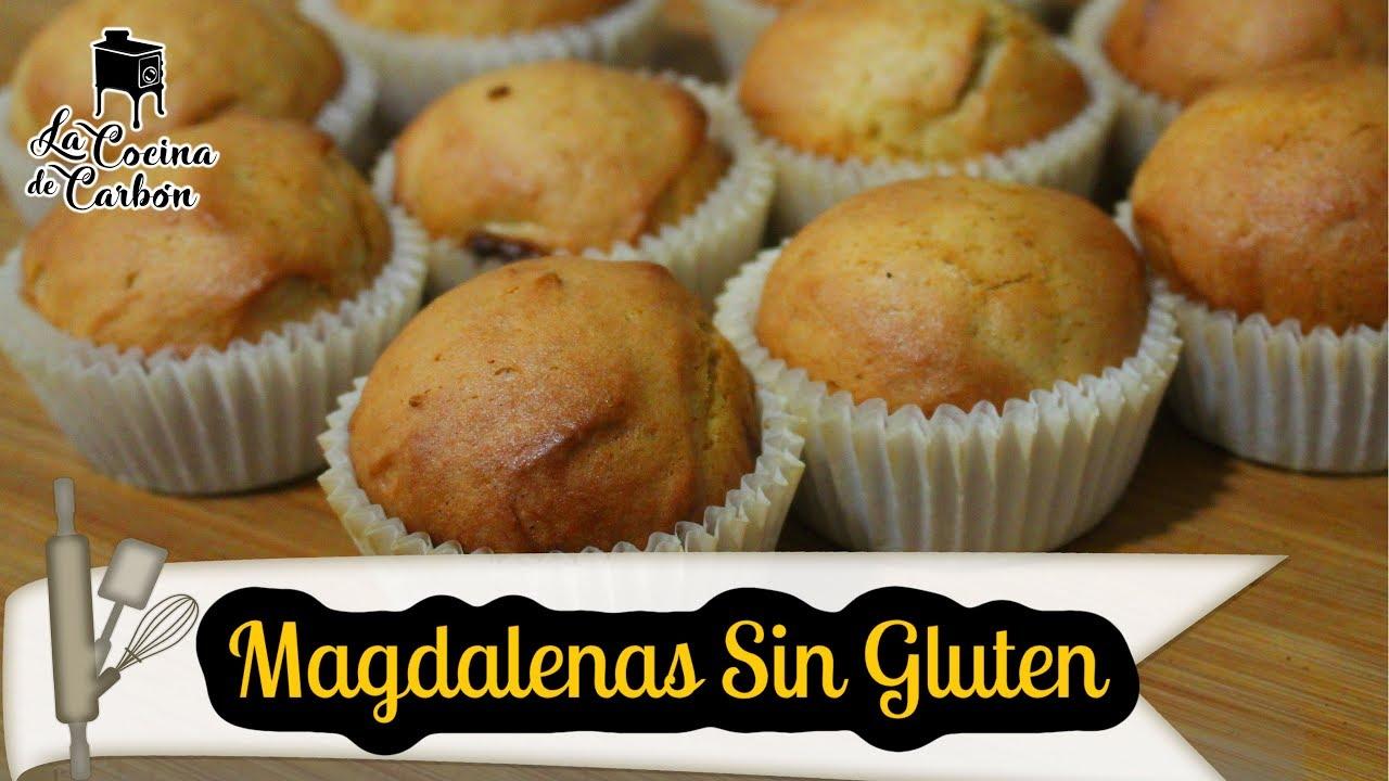 Magdalenas Sin Gluten Esponjosas Y Sin Mixes Comerciales Youtube