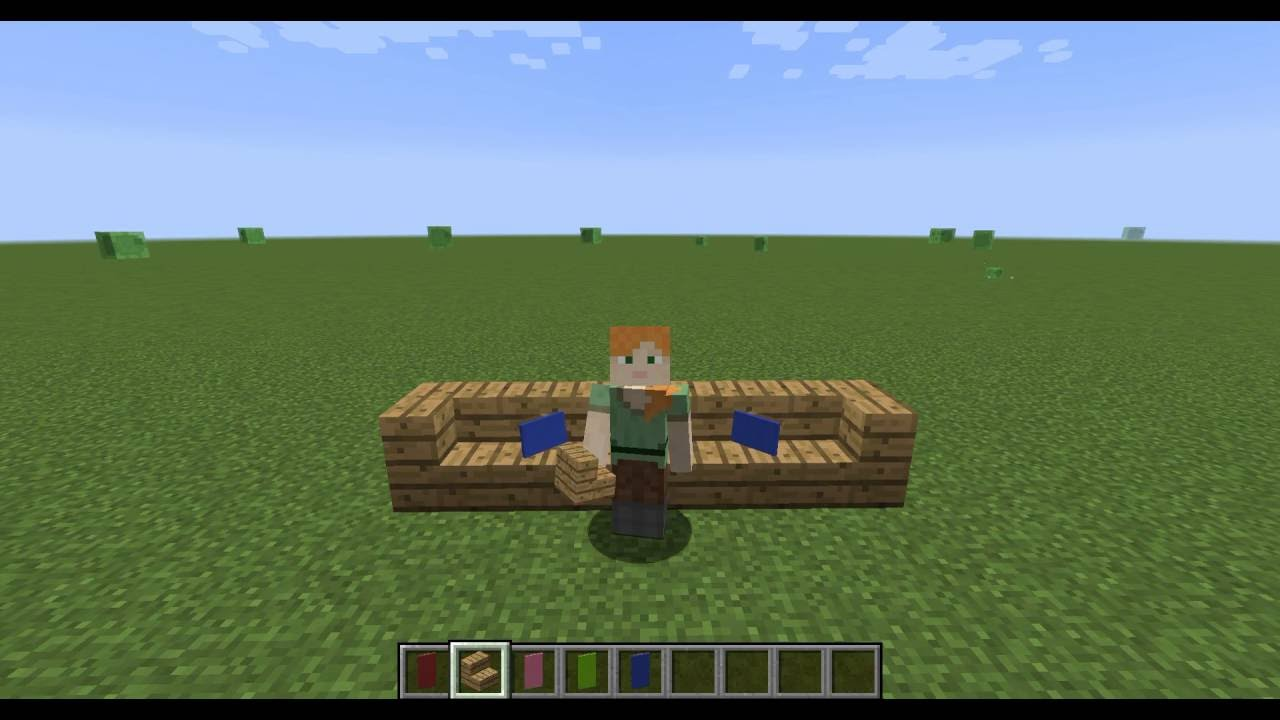 how to make a sofa pillow in minecraft