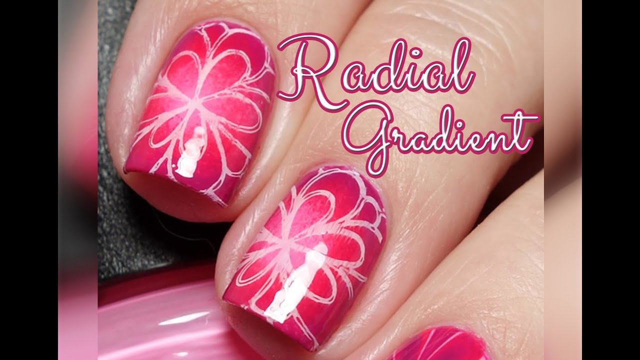 Radial gradient tutorial pretty pink nail art youtube prinsesfo Image collections