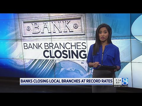 Banks closing local branches at record rates