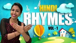 Hindi Rhymes For Kids With Actions   Top 10 Hindi Rhymes Collection   Hindi Action Songs For Kids