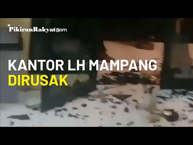 Diduga Sedang Mabuk, Lima Oknum PPSU Kelurahan Bangka Rusak Kantor LH Mampang