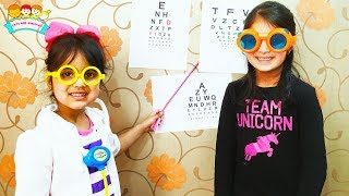 Cutie as Eye Doctor Clinic Play | Funny Eye Checkup For Katy| Katy Cutie Show