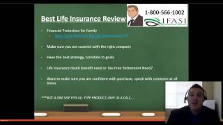Best Life Insurance **WATCH THIS** Top Life Insurance Review