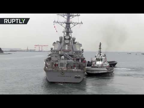 RAW: Destroyer USS Fitzgerald off coast of Japan (FILE VIDEO)