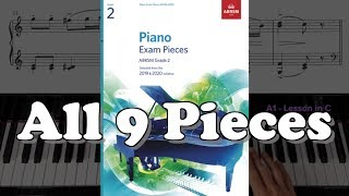Gambar cover ABRSM Grade 2 Piano (2019 & 2020): All 9 Pieces