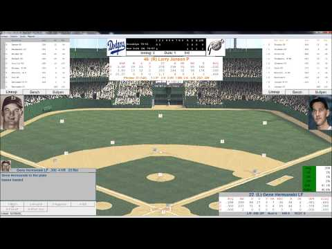 1950 Baseball Replay New York Giants vs Brooklyn Dodgers Action PC Baseball September 10, 1950