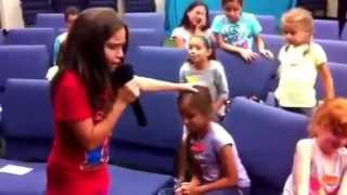 Little girl speaking in tongues