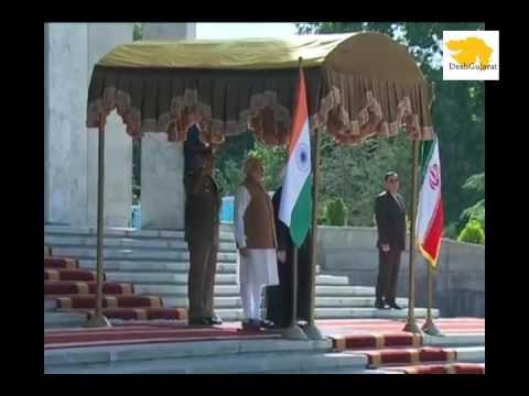 Narendra Modi receives ceremonial honor in Iran capital Tehran