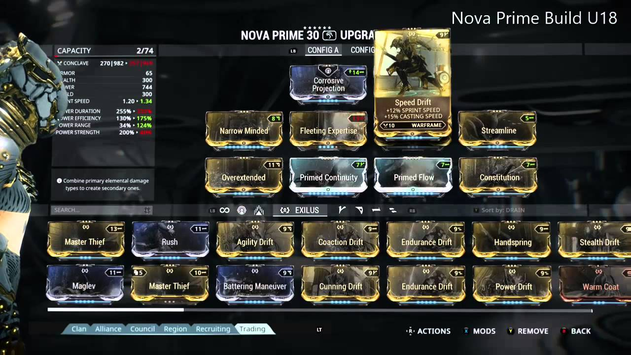 Slow Nova -> What Mods? :: Warframe General Discussion