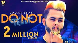 Do Not Trust   James Brar   Ryder   Latest Punjabi Song 2019   Brown Box Muzic  