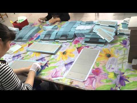 Gift box manufacturing - adding glue and folding