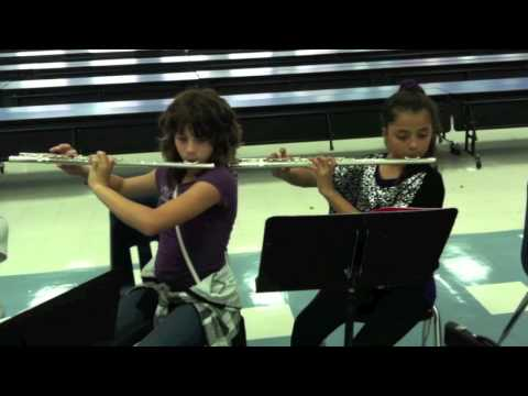 Brownwood Intermediate School band practice