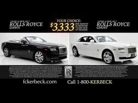 Rolls Royce Dealer Featuring Rolls Royce Lease Payments