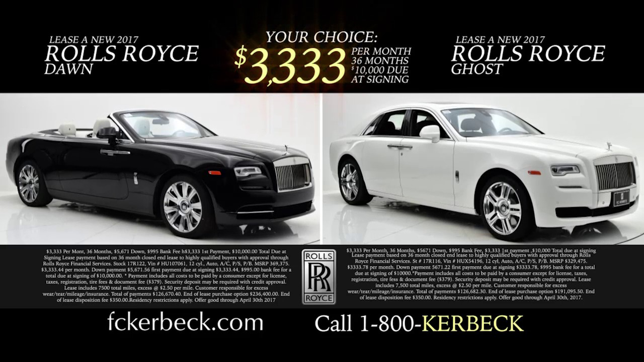 Rolls Royce Dealer Featuring Rolls Royce Lease Payments ...