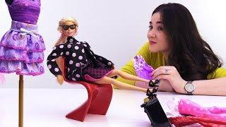 Новые платья Барби из Милана - Игры одевалки