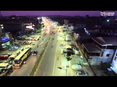 DJI Inspire 1 | National Road 6 in Siem Reap from 60m Road to Royal Palace Bridge