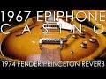 Epiphone Casino In For Headstock Repair, Fretwork, Restoration