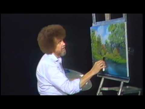 Bob Ross: Autumn Stream Clip (With Happy Accidents)