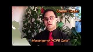 Good Wishes to Message of HOPE 2012-13 from Sujeet Desai