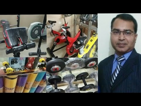 Gym And Exercise Equipment Wholesale Market// Spinning Cycle, Dumble, Home Gym In Wholesale Prices
