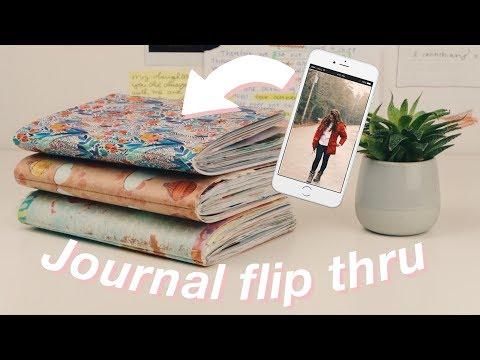 How I Modern Day Scrapbook my iPhone Photos // JOURNAL FLIP THRU