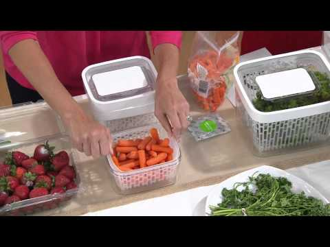 OXO Greensaver Produce Keeper & Carbon Refill Set With David Venable