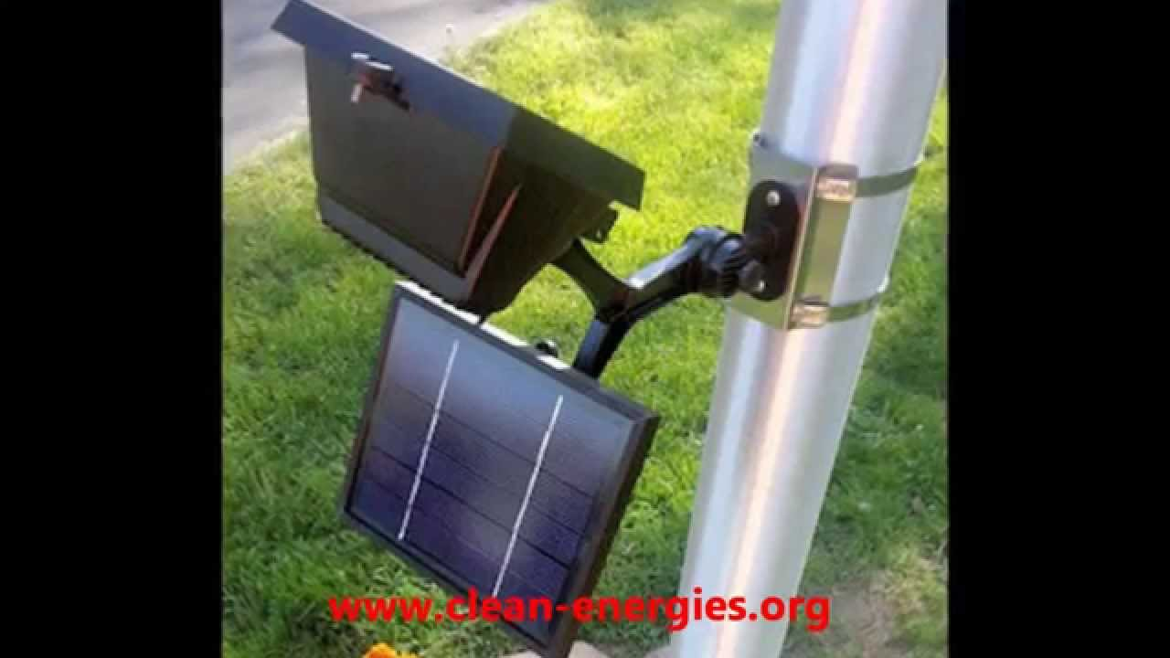 Commercial Solar Flagpole Light - Solar Sign Light - YouTube