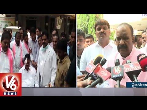 Naini Narasimha Reddy Visits Swamy Goud In Sarojini Devi Eye Hospital | V6 News