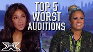 Top 5 Worst EVER Auditions | X Factor Global