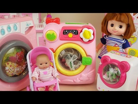 Thumbnail: Baby doll and Washing machine toys play