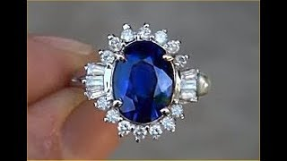 "Genuine Cornflower Blue Sapphire & Diamond Ring  ""SEE VIDEO"" $8,565"