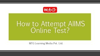 AIIMS Online Test Demo