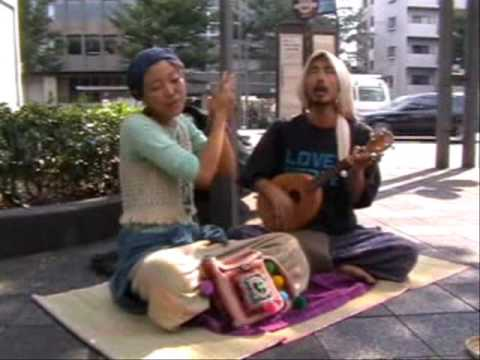 beautiful song by Japanese street performers in Kyoto