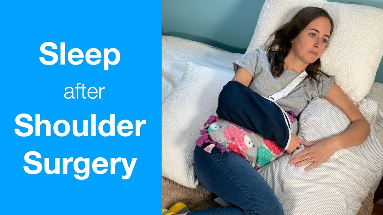 how to sleep after shoulder surgery rotator cuff repair shoulder replacement or injury