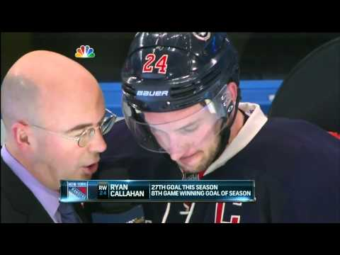 Ryan Callahan Post-game Wings interview with Pierre McGuire - 3/21/2012