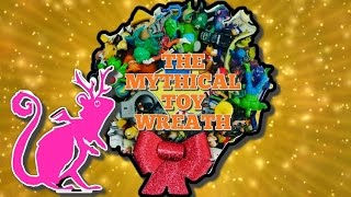 DIY Christmas Craft For Kids! The Mythical Toy Wreath Decoration! Christmas 2016 🐢