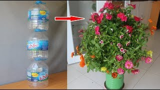 Modern housewife recycles plastic bottles like this