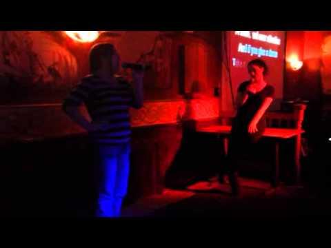 Nizza and Jackie karaoke Barney Mcnabbs.