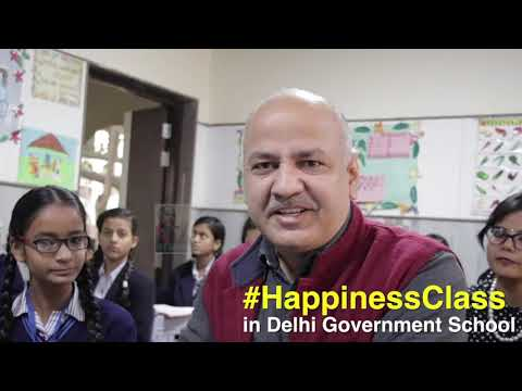 Dy CM Manish Sisodia in happiness Class.