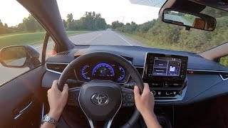 2019 Toyota Corolla XSE Hatchback (6-Speed Manual) - POV Sunset Drive (Binaural Audio)