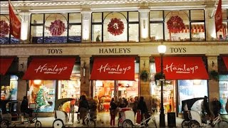 Hamleys Toy Shop London Christmas walk through